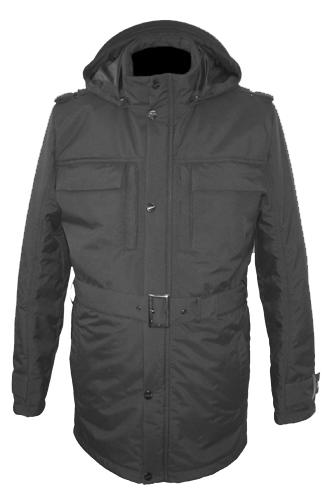 Куртка из серебристой кожи с меховой отделкой